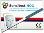 Este paquete incluye tres pruebas de embarazo Sensitest.