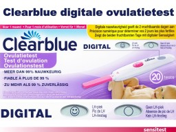 Clearblue Digital con 20 pruebas de ovulación con instrucciones en castellano