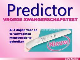 Predictor Early test de embarazo desde 4 días antes de la menstruación