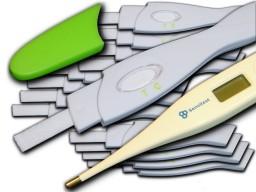 Sensitest paquete promocional con termómetro de ovulación